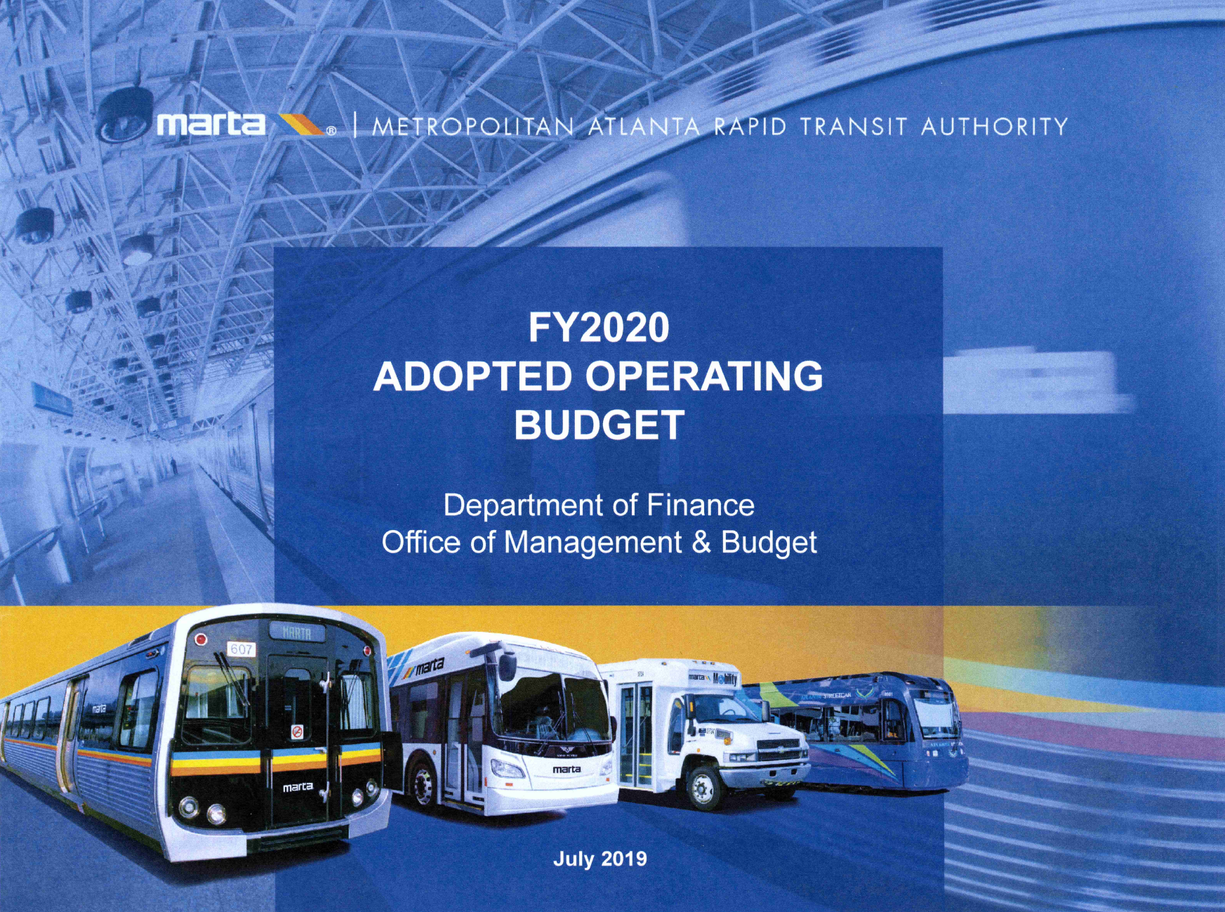 FY2020 Budget Cover